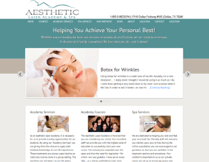Sample Website_Aesthetic Laser Academy and Spa